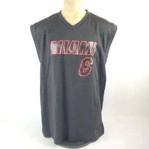 LeBron James Miami Heat Blackout Adidas NBA Jersey
